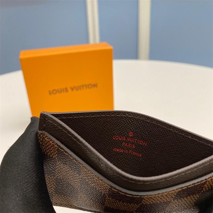 N61733 - LV Brown Plaid Leather Wallet