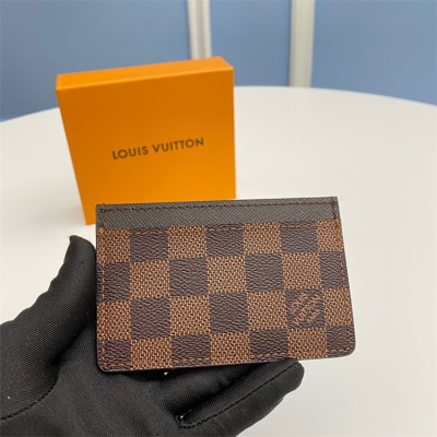 N61733 - LV Brown Plaid Leather Wallet