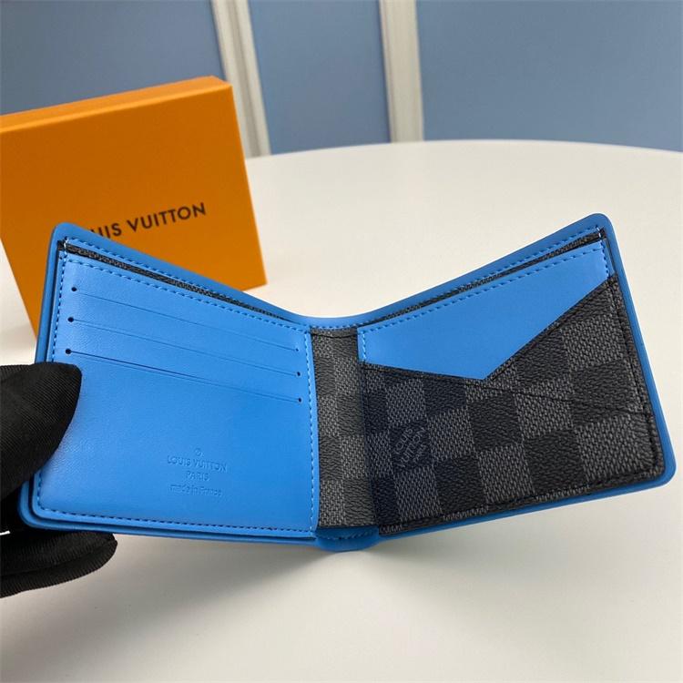 N64434 - LV Black Plaid Damier Graphite Multiple Leather Wallet