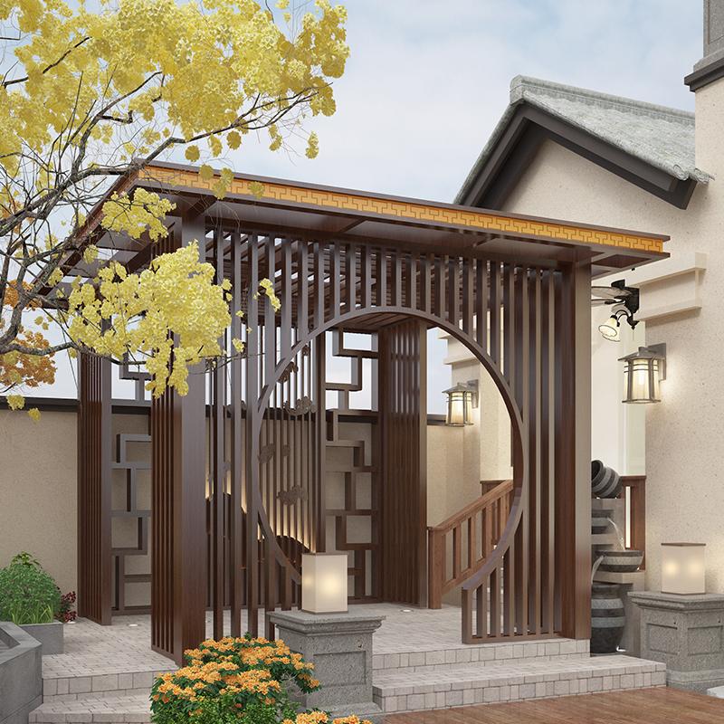 阳合铝艺乡村农村别墅新中式现代简约凉亭环保耐用款式多价格便宜可定做