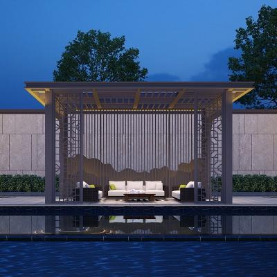 阳合铝艺中式别墅铝合金凉亭现代简约风格设计支持来图来样定做