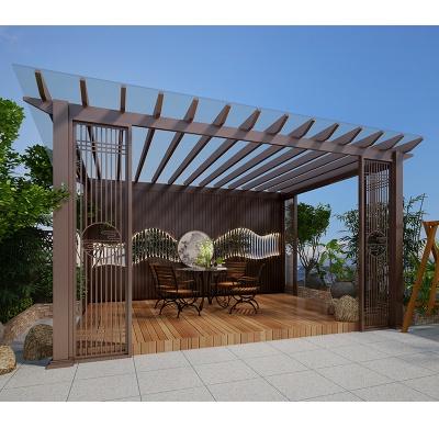 金属葡萄架凉亭户外庭院铝艺定制防火阻燃安装简单适用寿命长