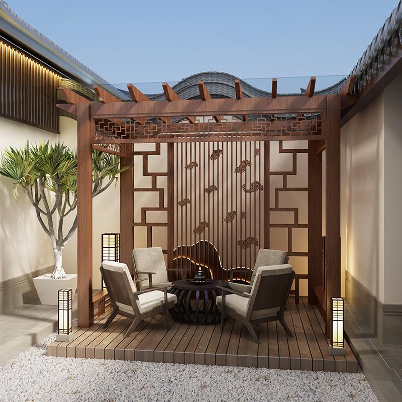 阳合庭院铝合金花架葡萄架定制款设计生产安装一体支持定制