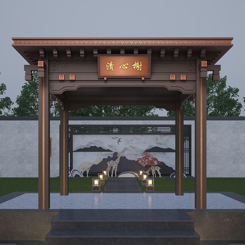 铝合金户外凉亭 别墅庭院四角凉亭子 花园简易亭遮阳雨棚