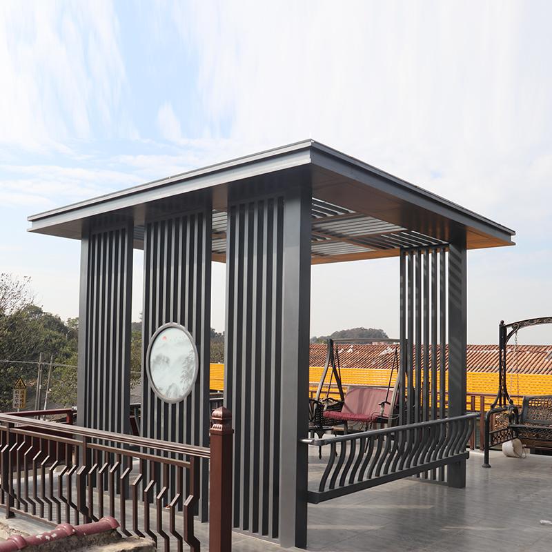 户外铝合金凉亭 市政园林别墅凉亭新中式铝合金亭子
