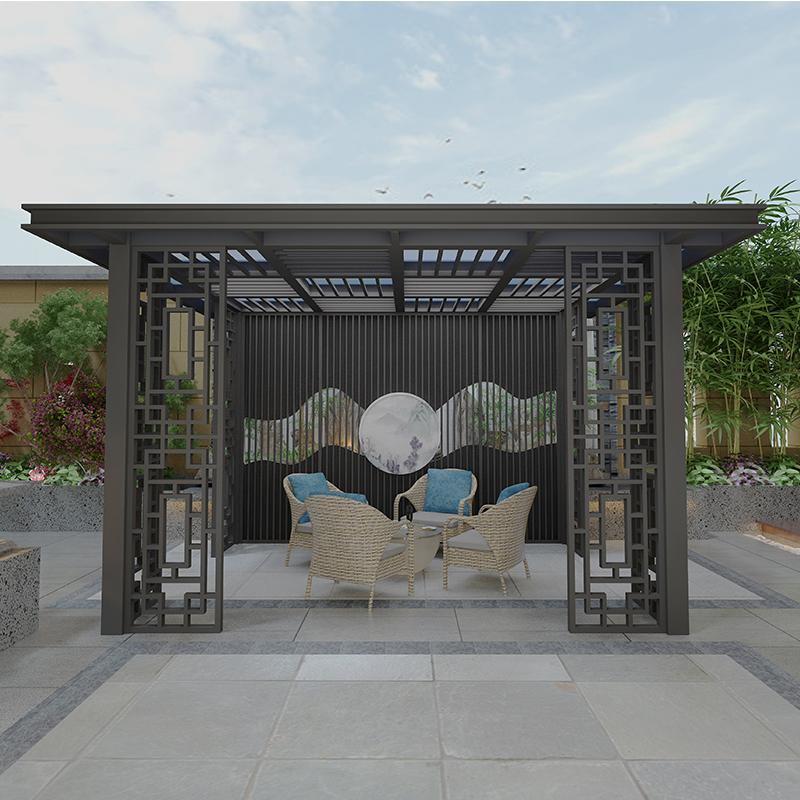 景区新中式凉亭 景区铝合金凉亭 铝合金新中式凉亭厂家