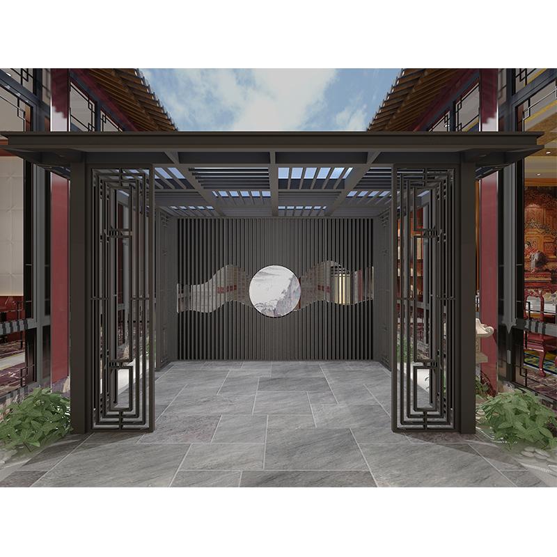 阳合铝艺 公园新中式凉亭 公园铝合金凉亭