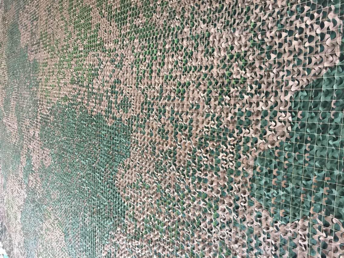 Fire Retardant Desert Camouflage Net, 210T Polyester Two Side PU Coated Desert Camo Nettin