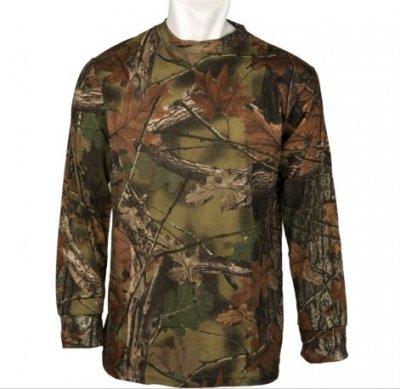 Long Sleeve CAMO CAMO UFLAGE T-Shirt, Hunting Camping Basic Tee