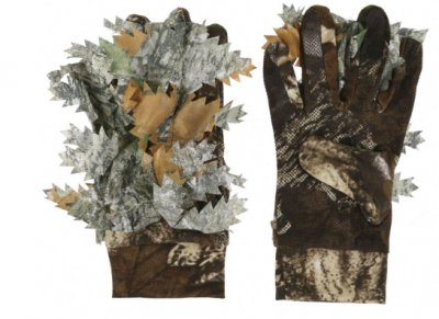 3D Camo Leaf Suit With 3D Printed Grip Pattern Nylon Taffeta Sneaky Lycra Gloves