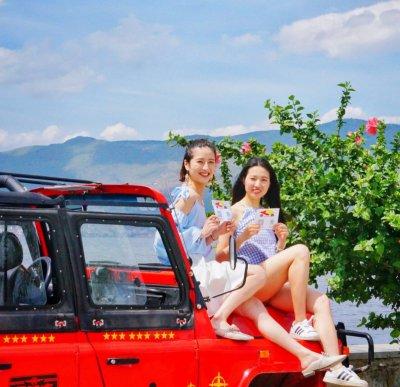 坐上吉普车小哥哥带你在洱海边吃鸡(吉普车环洱海一日游)