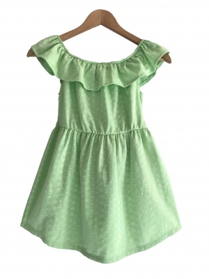 184005 girls dress - green