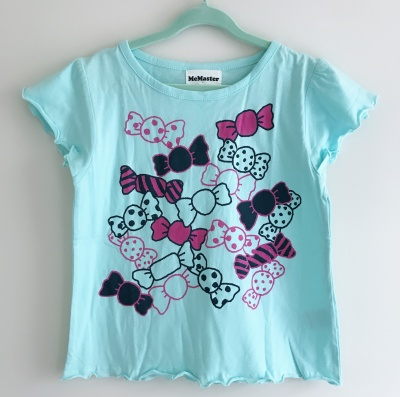 184001 girls short sleeve tee - aqua