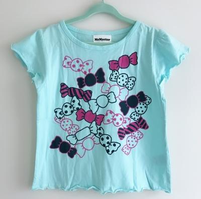184001 baby girls short sleeve tee - aqua