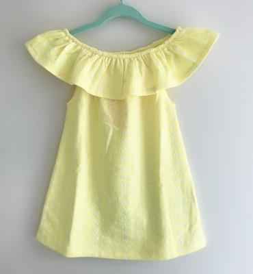 184005 baby girls dress - yellow