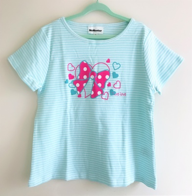 184003 girls short sleeve tee - strips