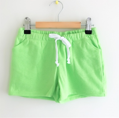 184004 girls knit shorts - green