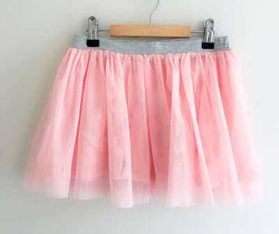 186002 baby girls mesh tutu - pale pink