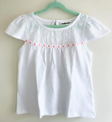 186001 baby girls short sleeve top - white