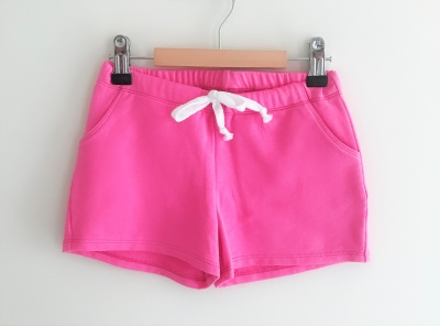 184004 girls knit shorts - hot pink
