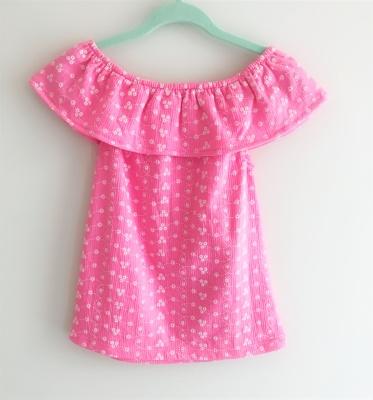 184005 baby girls dress - pink