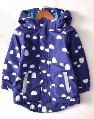 J01-Kids Pattern Waterproof Jacket - Blue