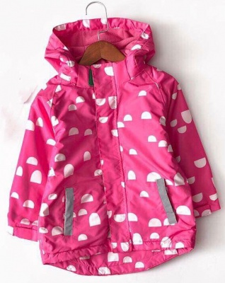 J01-Kids Pattern Waterproof Jacket - Pink