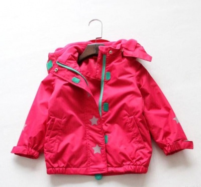 J02 - Kids Solid Colour Waterproof Jacket - Hot Pink