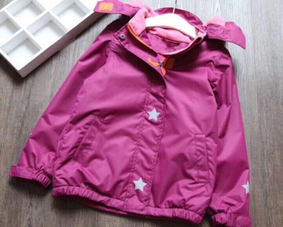 J02 - Kids Solid Colour Waterproof Jacket - Purple