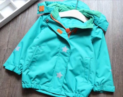 J03 - Kids Solid Colour Waterproof Jacket - Green