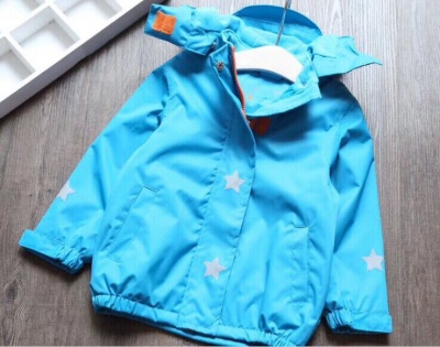 J03 - Kids Solid Colour Waterproof Jacket - Blue