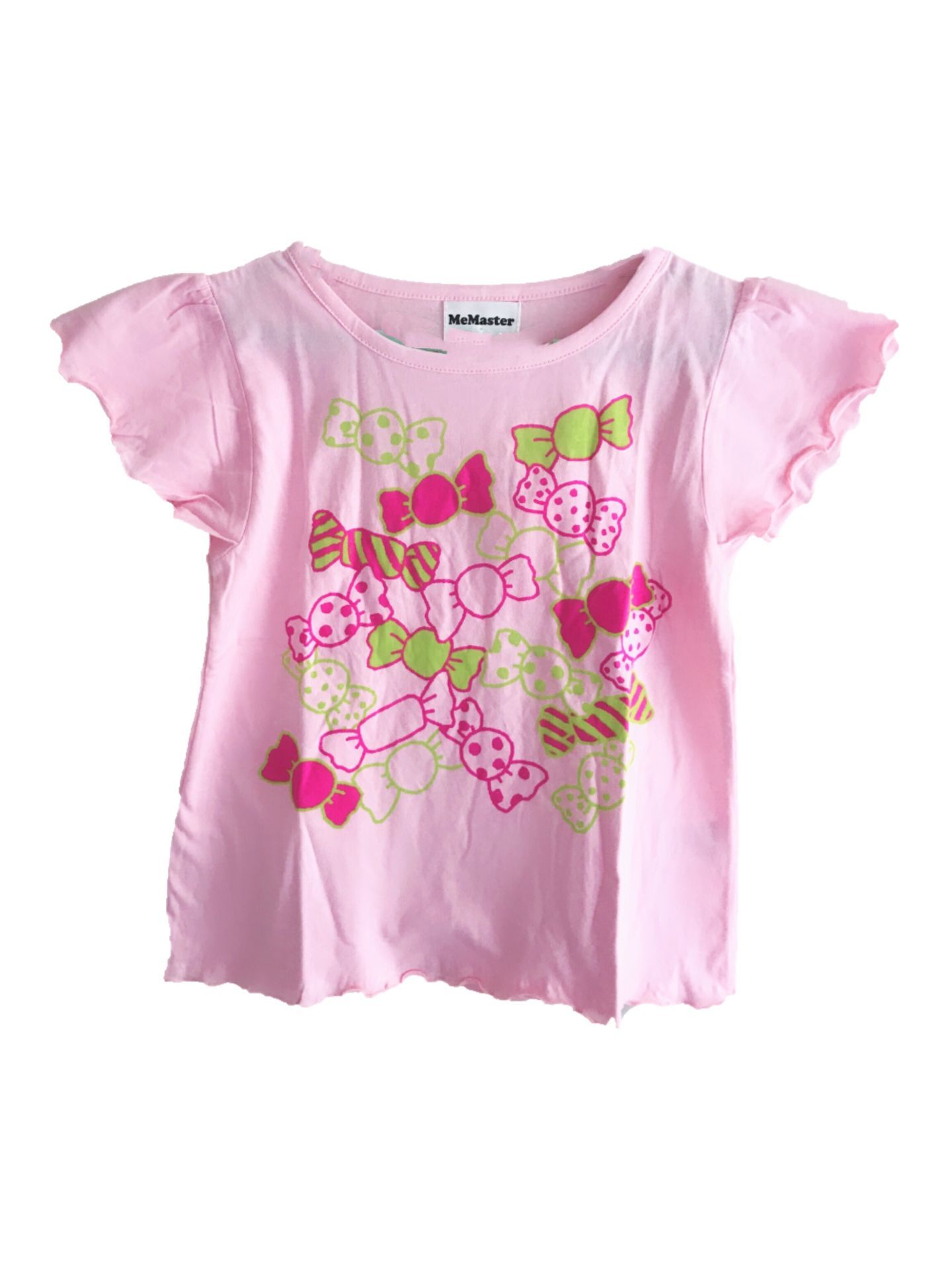 184001 girls short sleeve tee - pink