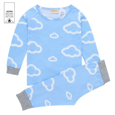 AW1932 Junior Boys Cloud Pyjama Set - Blue