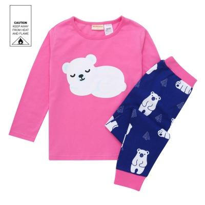 AW1924 Baby Girls Polar Bear Pyjama Set - Hot Pink