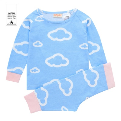 AW1923 Baby Girls Cloud Pyjama Set - Blue