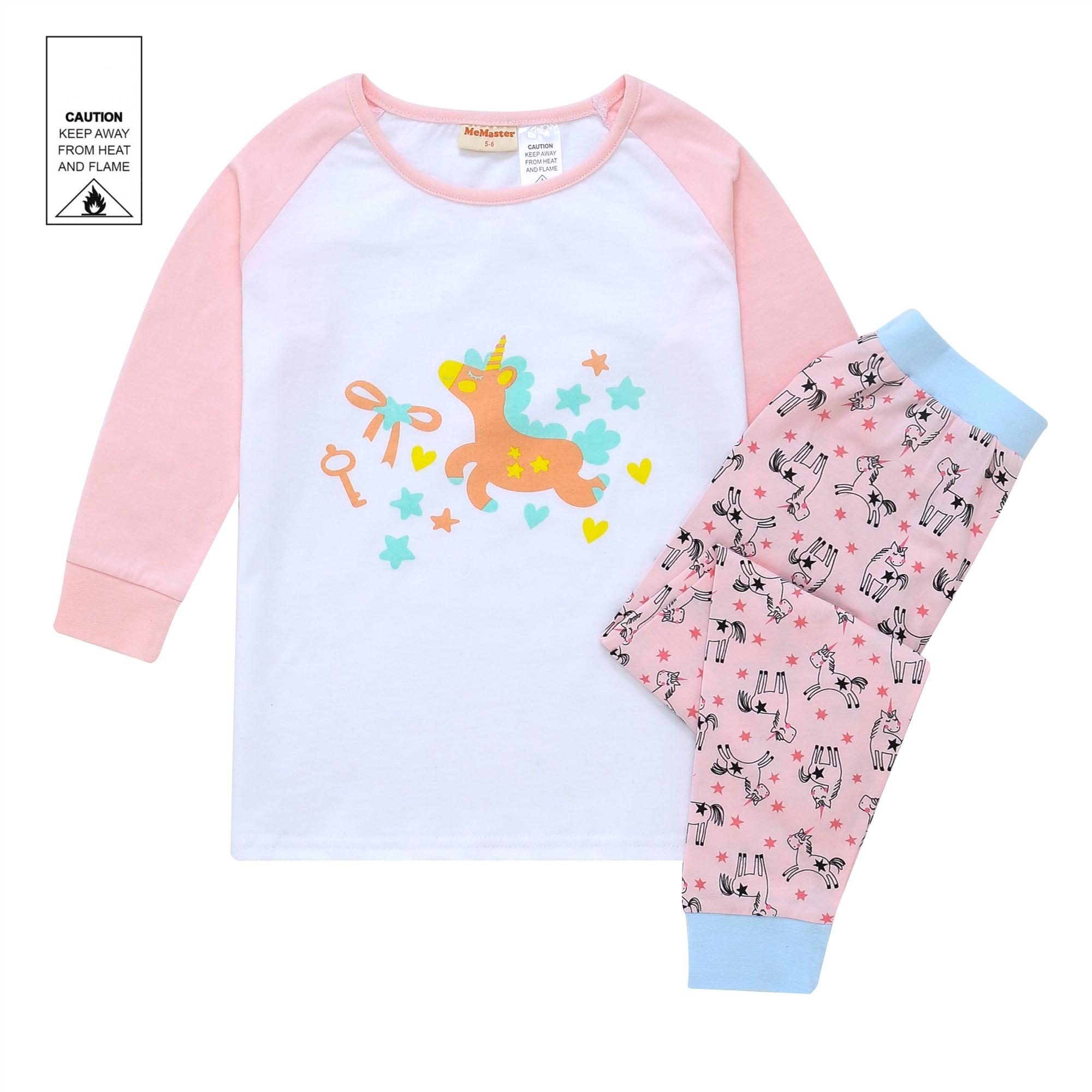 AW1922 Baby Girls Unicorn Pyjama Set - Pink