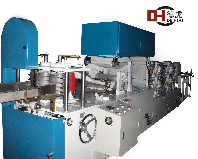 四色印刷壓花方巾折疊機