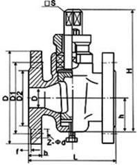 二通铜芯旋塞阀 X43T