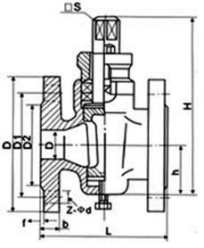 二通铸钢旋塞阀 X43W