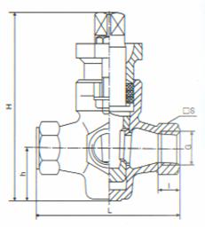 三通内螺纹旋塞阀 X14W
