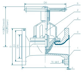 直通式衬胶隔膜阀 G46J