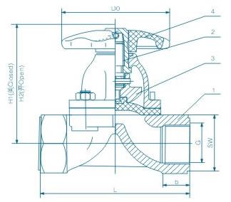 内螺纹隔膜阀 EG11W