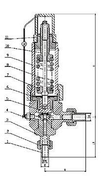 弹簧微启式安全阀 A61H-160、A61Y-320、A61Y-160P、A61Y-320P