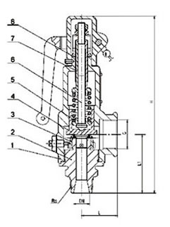 弹簧微启式安全阀 A27H