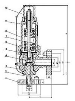 弹簧微启封闭式高压安全阀 A41Y