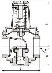 直接作用薄膜式支管减压阀 YZ11X