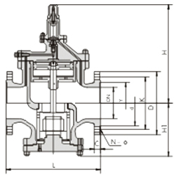 高灵敏度大流量蒸汽减压阀 YGA43H/Y