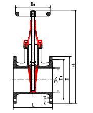 (国标、德标)弹性密封、橡胶密封暗杆闸阀 Z45X型