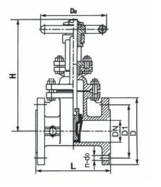弹性座密封、橡胶密封明杆楔式闸阀 Z41X