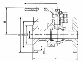 法兰连接铸钢球阀 Q41F